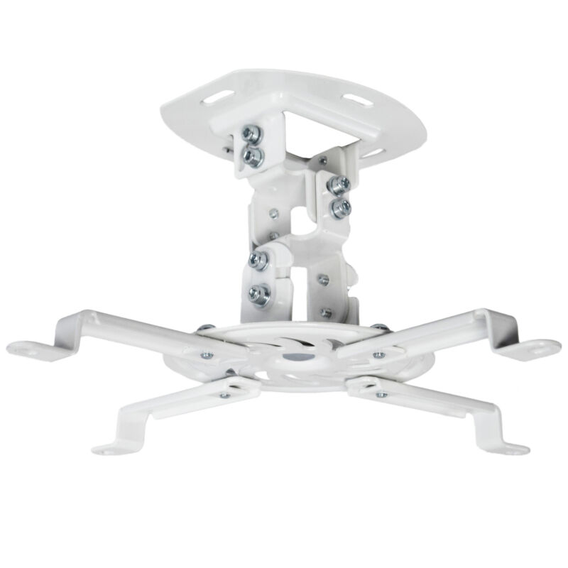 VIVO Universal Adjustable Ceiling Projector Theater Mount White | Extending Arms