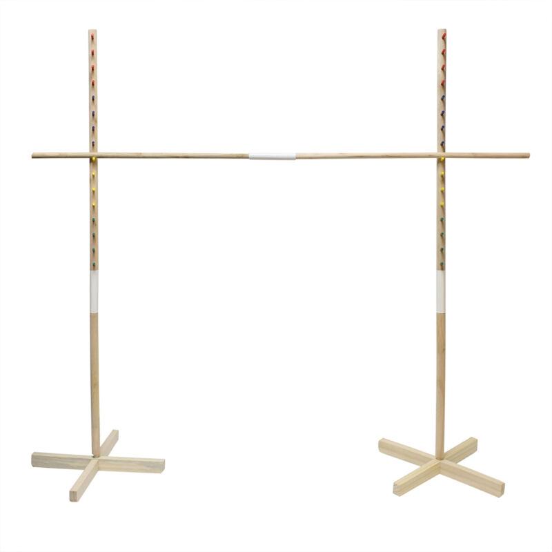 Wooden Limbo Game for Kids Adults Limbo Stick Set Limbo Pole Limbo Kit
