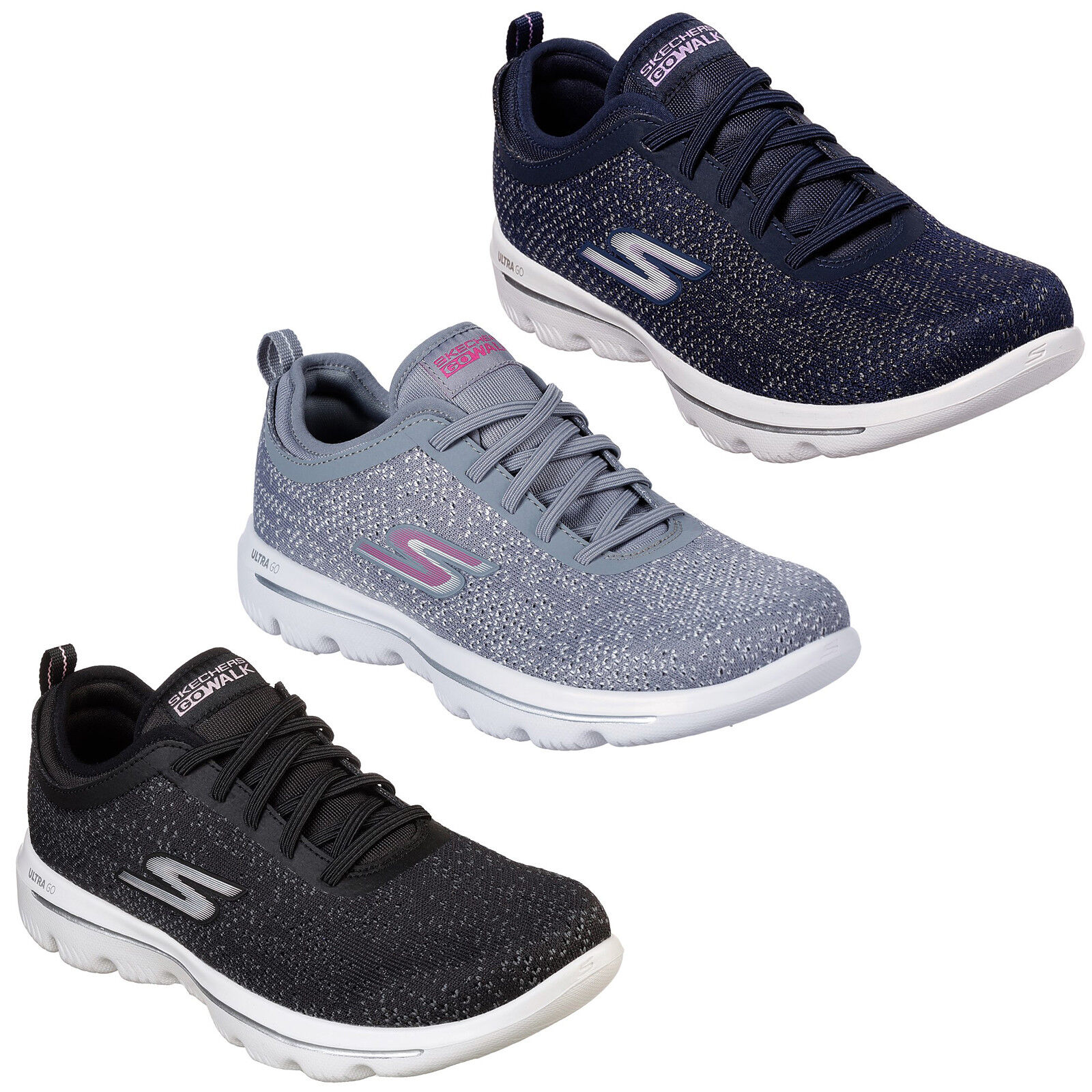 c3e430953 Details about Skechers GoWalk Evolution Ultra - Mirable Trainers Womens  Lightweight Shoe 15736