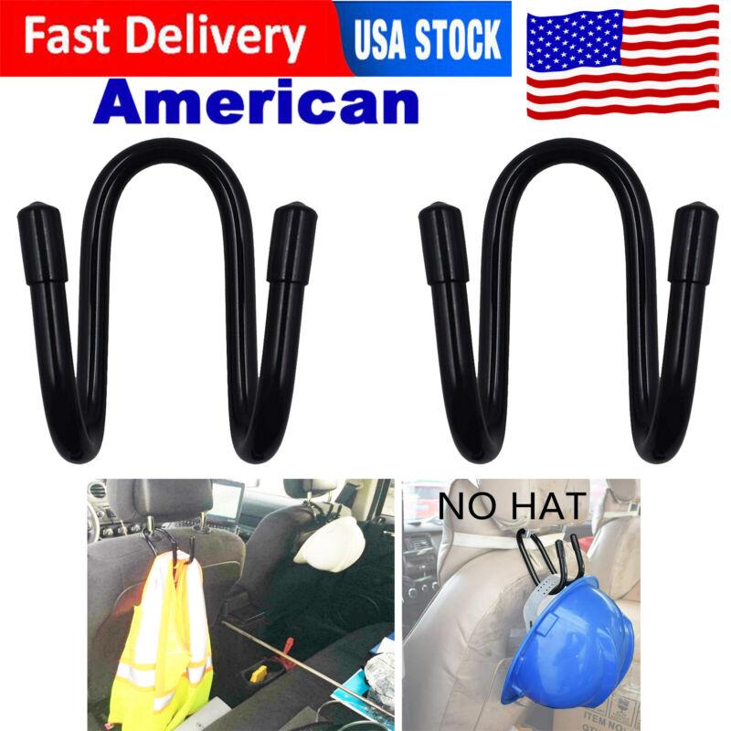 2x Flexible Hard Hat Holder-Over the Seat or Headrest Wire Rack Hanger Organizer