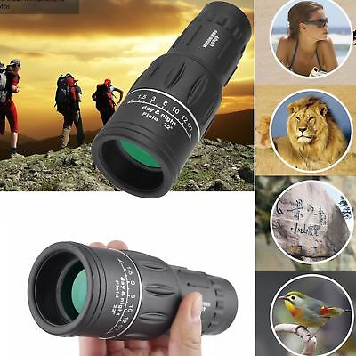40x60 HD Optics Monocular Dual Focus Tag & Nachtsicht Camping Wandern Teleskop