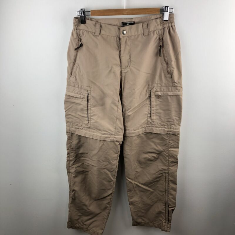 REI UPF 50+ Womens Size 6 Convertible Short Pants Hiking Brown Zipper Pockets