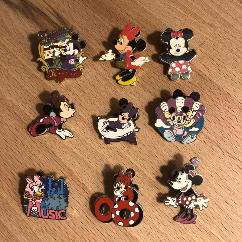 Disney Trading Pins Lot 9 Minnie Mouse Adventures By Disney Hidden Mickey