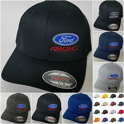 (FORD RACING FLEXFIT Embroidered Baseball Hat Cap Flexfit Style 6277 Ford Racing)