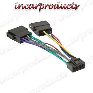 Kenwood / JVC 16 Pin ISO Wiring Harness Connector Adaptor Car Stereo Radio Loom