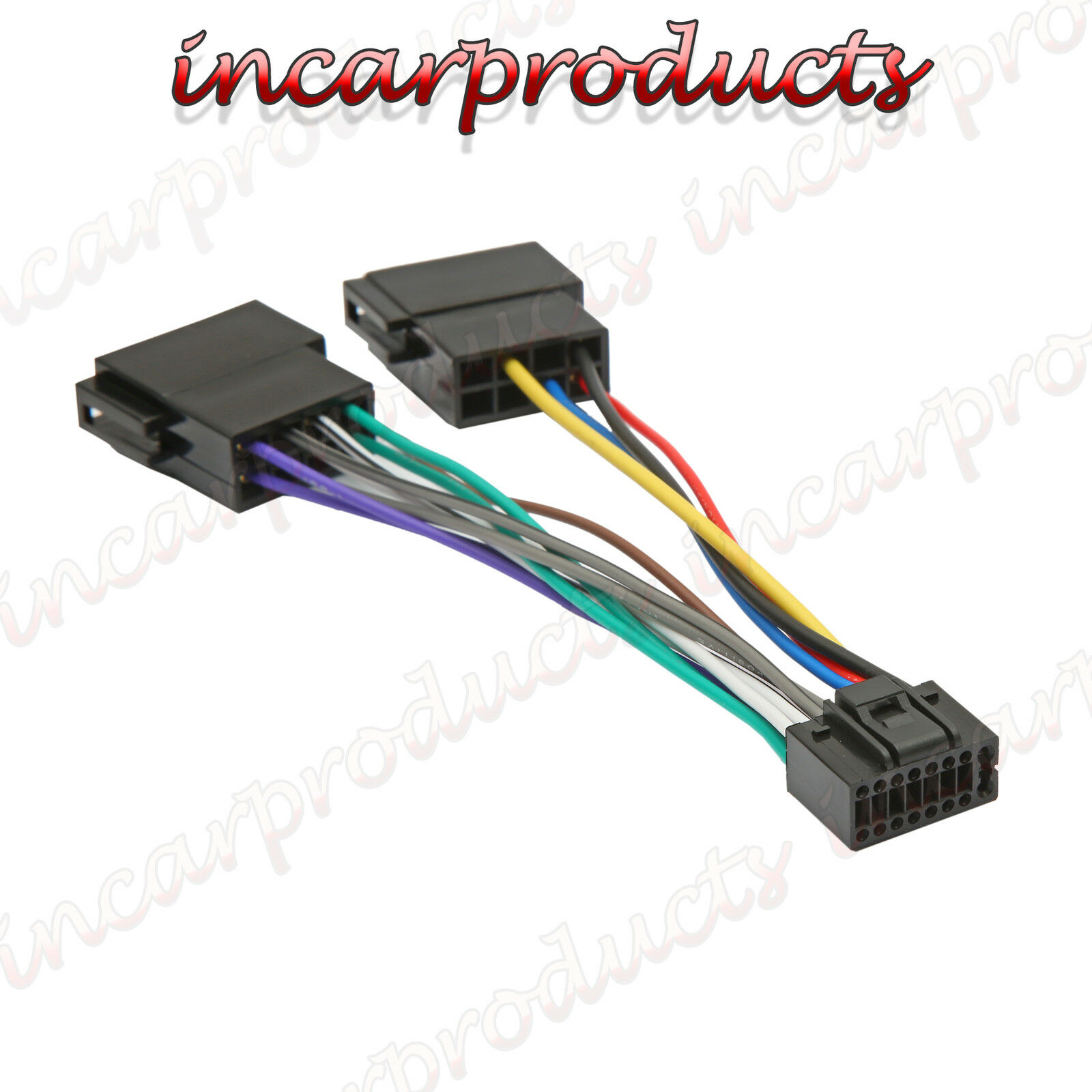 Kenwood / JVC 16 Pin ISO Wiring Harness Connector Adaptor Car Stereo ...