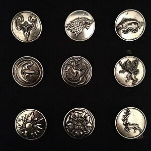 Game of thrones: 9 metal brooches