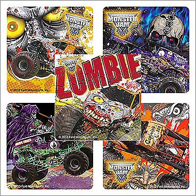 Monster Jam Stickers x 15 - Birthday Favours - Gravedigger - Zombie - Trucks](Grave Digger Monster Truck Party Supplies)