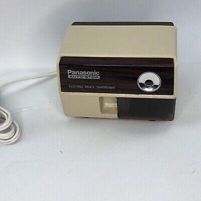 Vintage Panasonic Auto-stop Electric Pencil Sharpener Model Kp-110 - Works Great