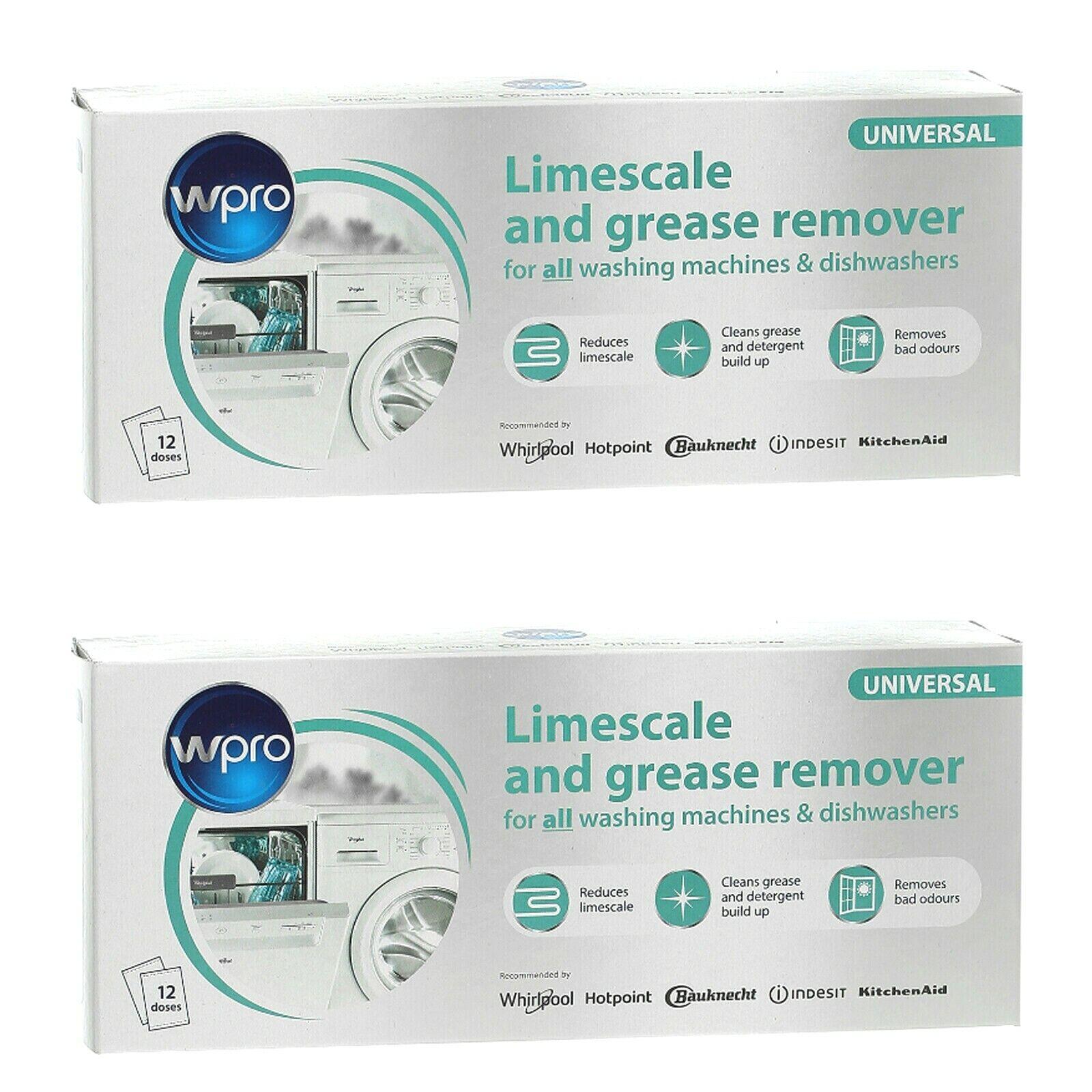 WPRO HOTPOINT anticalcaire /& Grease Remover 2 x boîtes de 12 sachets