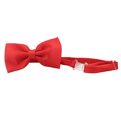 Red Suit For Kids (Satin Red Bow Tie for Baby Toddler Kid Teen Boy Formal Party Wedding Tuxedo)