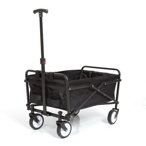Wagon Folding Cart Collapsible Garden Beach Utility Outdoor Camping Sports Black