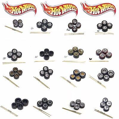 Hot Wheels 1:64 EZPZ Real Riders Wheels/Rubber Tires/Axles 1 Car Set Loose