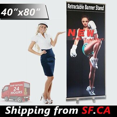 40x80 Heavy-duty Retractable Banner Roll Up Trade Show Display Stand