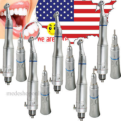 5x Us Dental Slow Low Speed Handpiece Complete Kit Set 4 Hole For Any Lab E-type