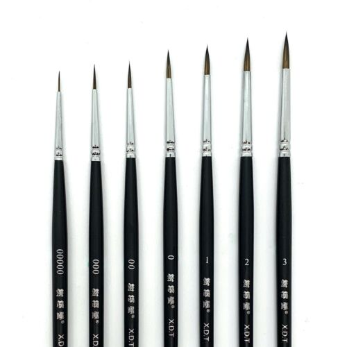 XDT#725 Micro-Liner Artist Paint Brush Model Nail #00000 #000 #00 #0 #1 #2 #3