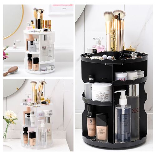 Makeup Shelf Cosmetic Rack Holder 360 Degree Rotating Organi