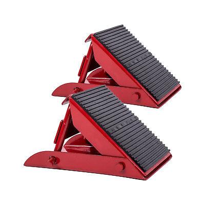 ProPlus 2er Set Mini Unterlegkeil klappbar 1000 Kg Rot Stahl für Wohnmobil