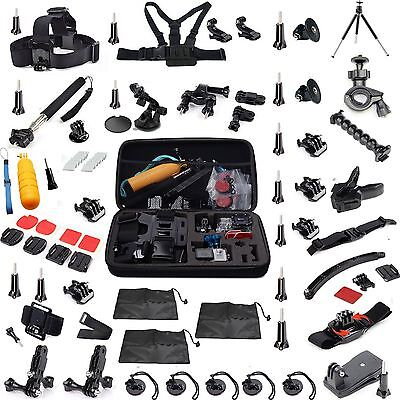 56 All-in-1 Educated Kit Accessories Bundle for Gopro HD Hero 4 3+ 2 camera