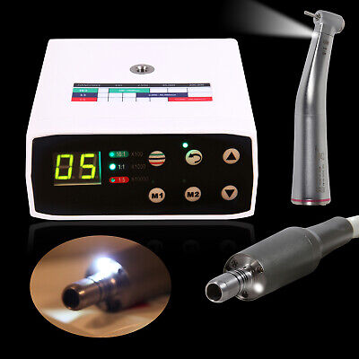 Dental LED spray Inner micro motor eléctrico + 1:5 fibra óptica contra...
