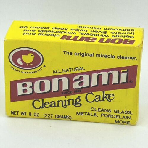 Vintage Bon Ami Cleaning Cake 8 oz NOS Discontinued SEALED All Natural Bar SH