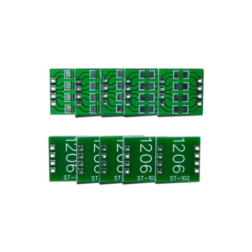 1206 SMD to DIP Breakout Board PCB Breadboard Adapter - 10 Pieces