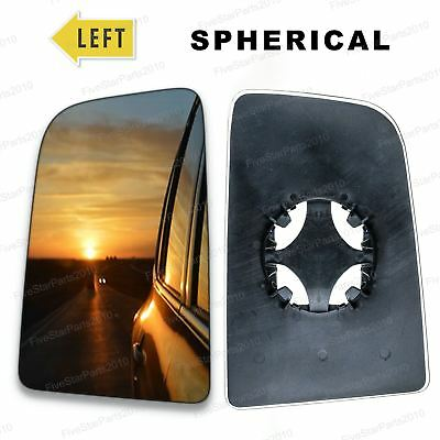 Left passenger side wing door mirror glass for Mercedes Sprinter 2006 2018
