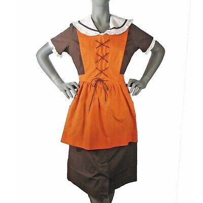 Vintage Angelica Diner Waitress Uniform Size 36, 3 Pcs Halloween Theater Costume