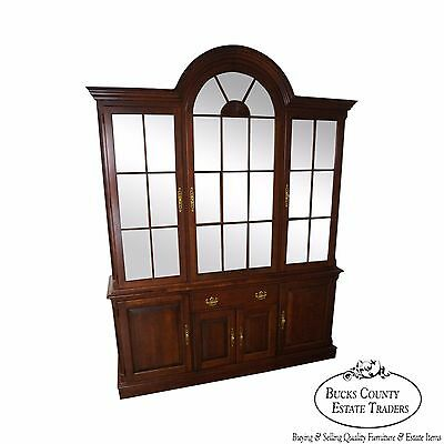 Pennsylvania House Traditional Cherry Wood Dome Top China Cabinet