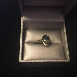 18K Gold Vermeil Raw Emerald Ring