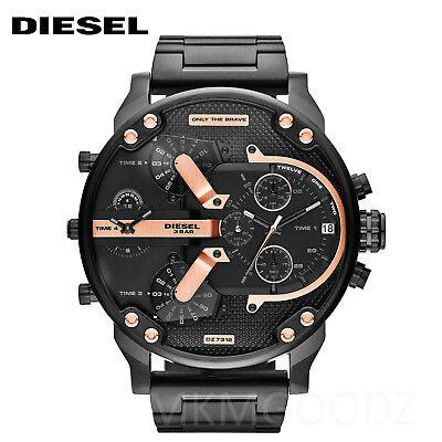 New Diesel DZ7312 Mr. Daddy 2.0 Black Ion-Plated Stainless Steel Men's Watch