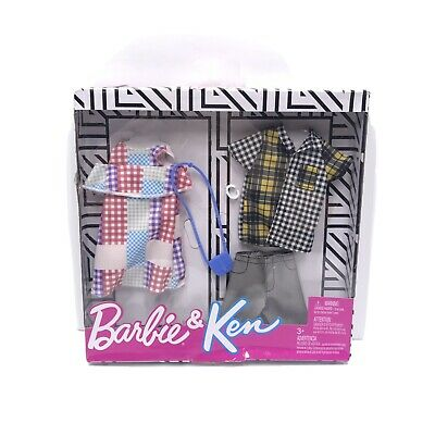 Barbie and Ken Fashion Complete Outfits And Accessories! Flannel Design Style