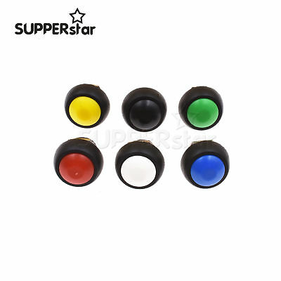 Mini 12mm 2pin Waterproof Momentary Onoff Push Button Round Switch Colorful Ass