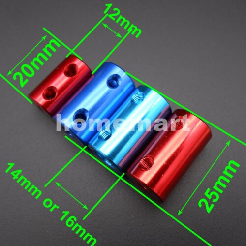 NEW All kinds Aluminum Flexible Shaft Coupling Rigid Couplers Connector Blue Red