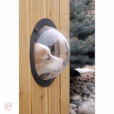 Fence Window Vintage Bubble Porthole Dog Gate Cat Pet Peek Outdoor House Port