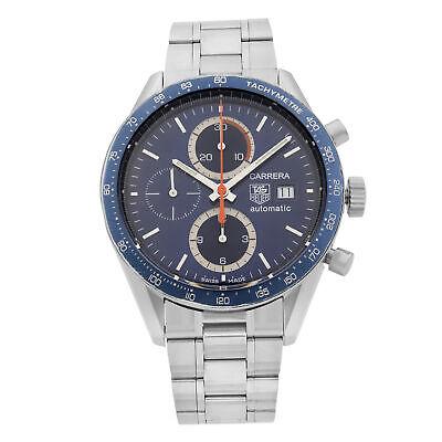 TAG Heuer Carrera Chronograph Steel Blue Dial Automatic Mens Watch CV2015.BA0794