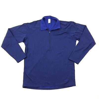 Vintage Patagonia 1/2 Zip Polo Pullover Shirt Herren Groß Blau Imitat - Patagonia Herren Polo-shirt