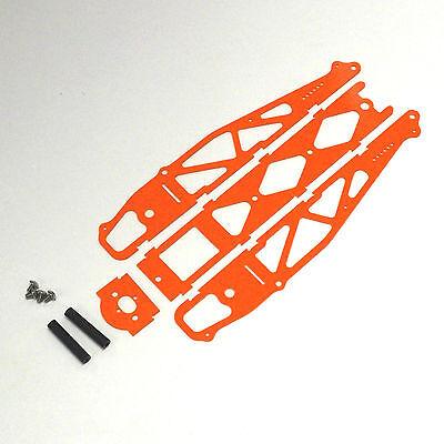 XTREME RACING ORANGE G-10 1/24 SLOT CAR DRAG CHASSIS XTR20027 NO WHEELIE BAR for sale  Fort Lawn