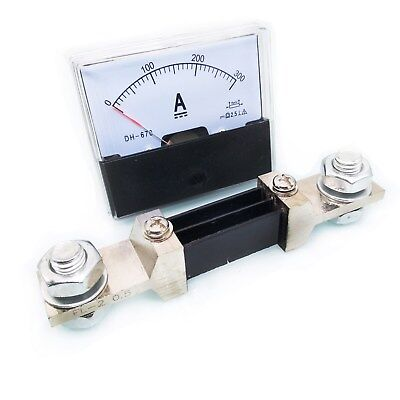 Us Stock Analog Panel Amp Current Ammeter Meter Gauge Dh-670 0-300a Dc Shunt