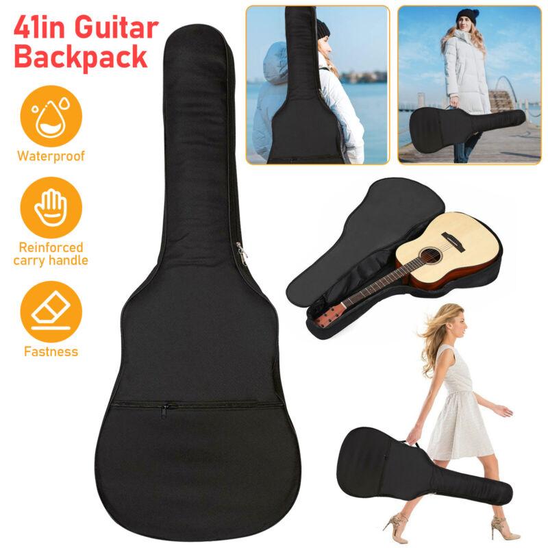 41in Waterproof Heavy Duty Padded Acoustic Guitar Case Gig Bag w/ Backpack Strap