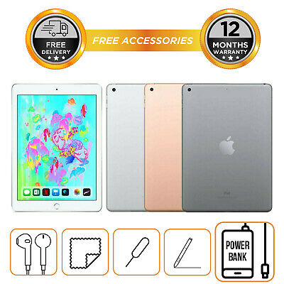 "Apple iPad 6th Generation 32GB 128GB 9.7""  WiFi Only All Colours 2018 Model"
