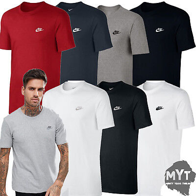 Nike Mens T Shirt Gym Cotton Sports Crew Neck Athletic Fit Tee