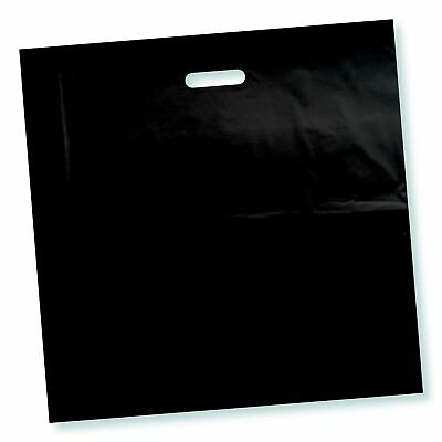100 Pack 22 X 22 With 2 Mil Thick Extra Large Black Merchandise Plastic Bags