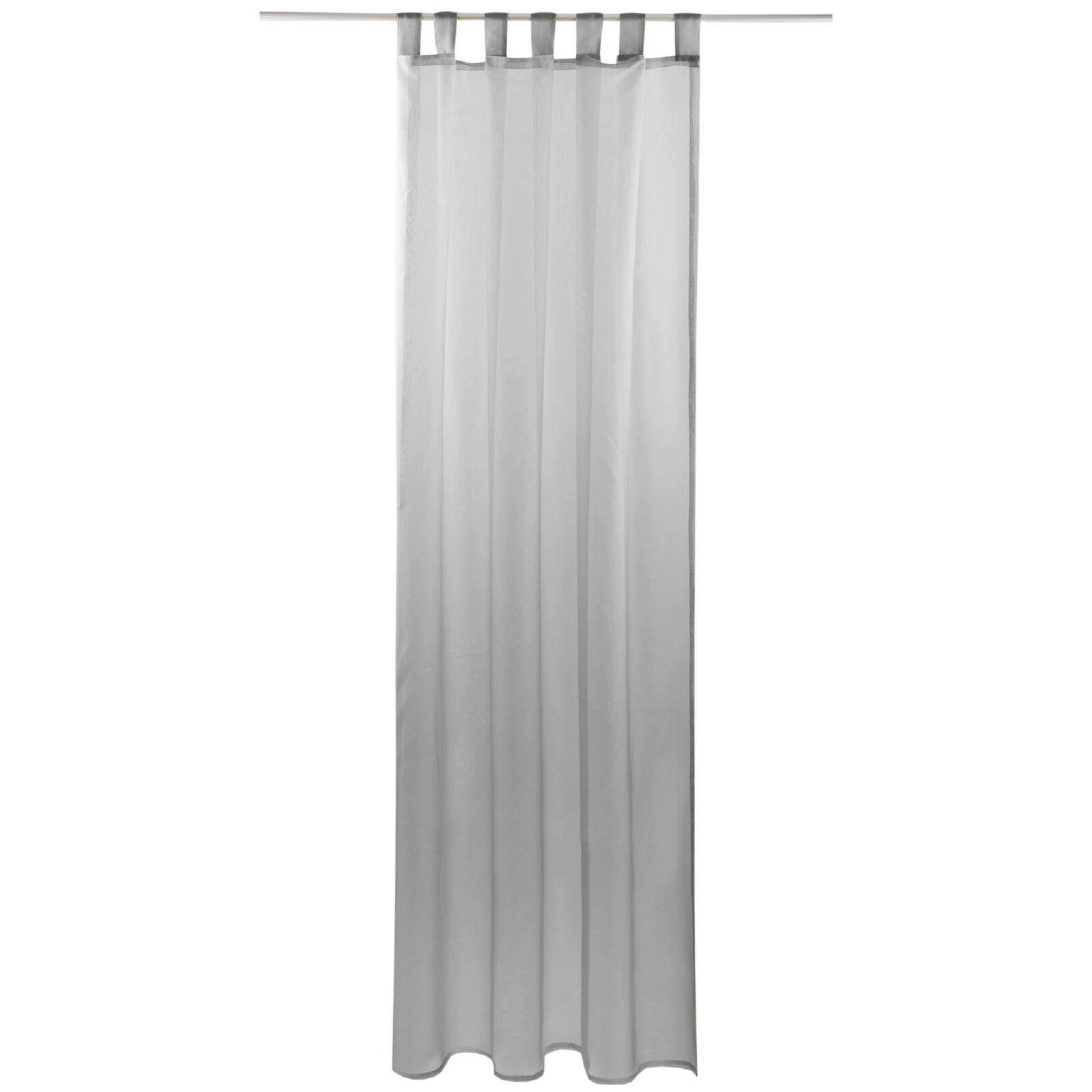 Schlaufenschal Vorhang mit Schlaufen Transparent Voile Uni Gardine große Auswahl grau - lichtgrau