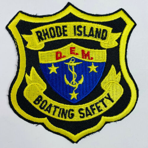 Boating Safety DEM Department Of Environmental Management Rhode Island Patch (A2