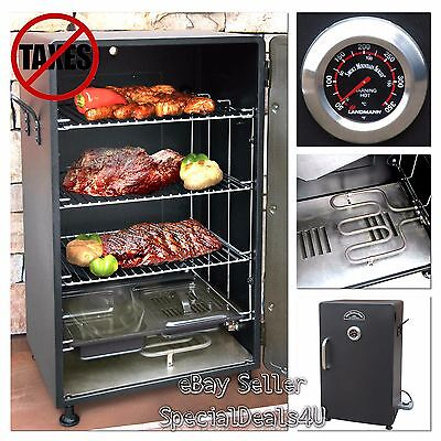 Electric BBQ Smoker Barbecue Grill Outdoor Portable Meat Cooker Digital Rack NEW