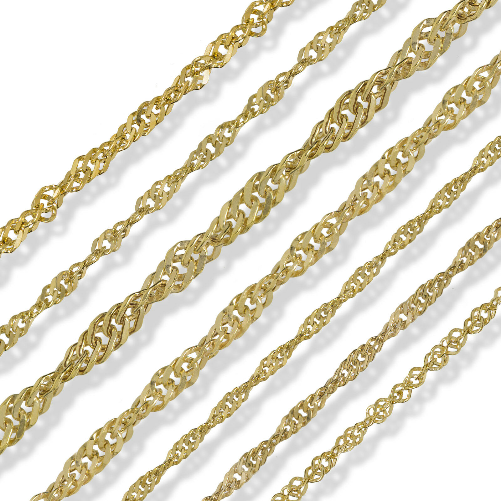 9CT GOLD ROPE CHAIN 16 18 20 22 24 28 BELCHER PRINCE OF WALES POW NECKLACE
