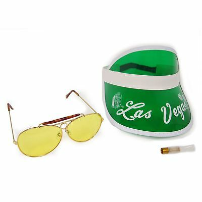 FEAR and LOATHING in LAS VEGAS Raoul Duke GREEN Visor Sunglasses Cigar Costume
