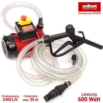 Dieselpumpe Heizölpumpe Ölabsaugpumpe Kraftstoffpumpe 600W 40l/min SN3550