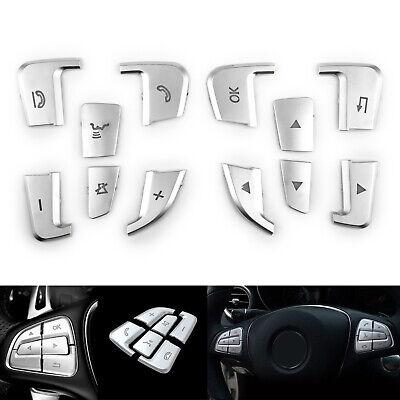 Lenkrad Taste Button Silber Trim Für Mercedes Benz GLE GLS A B GLA CLS Class F1